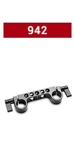 SMALLRIG Dual Rod Clamp Railblock Support 942