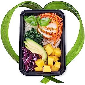 en plastique repas de salade préparation soupe congélateur conteneurs micro-ondes