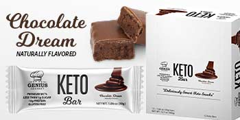 genius gourmet keto protein bars low carb chocolate dream best keto snacks perfect quest