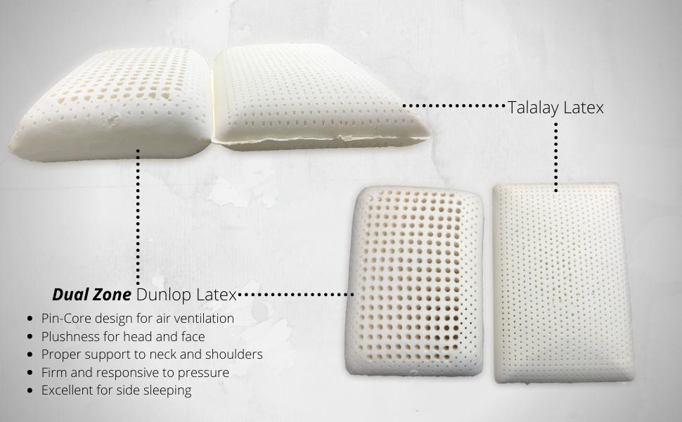 Dunlop Natural Latex Dual Zone Pillow