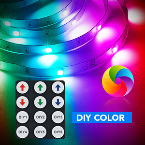 RGB LED COLOR CHANGING YOU CAN DIY THE COLOR ON BY 44 KEY REMOTE CONTROL ENJOY YOUR COLOR WORLD