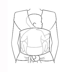 WOWOSS Tragetuch Baby mit gro/ßen Vordertasche schwarz Babytragetuch Neugeborene elastisches Baumwolle Sling