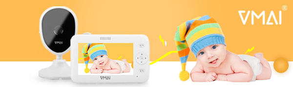 VMAI Baby Monitor Video Baby monitor with camera for viewing baby pet old people home use indoor