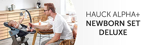 Hauck Alpha Plus Newborn Set Deluxe Legno Naturale