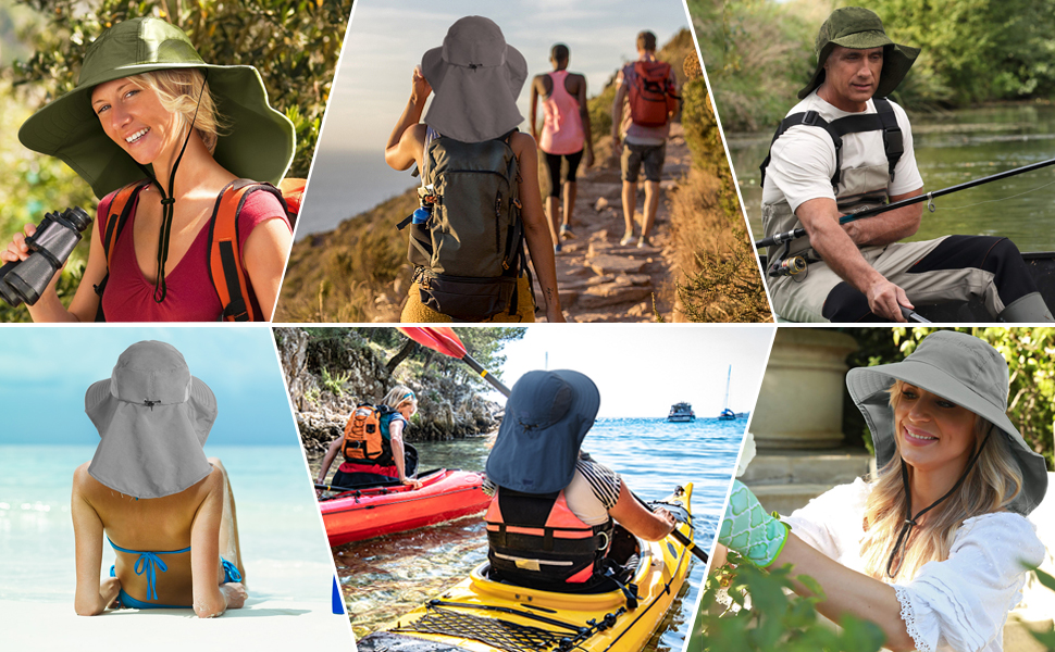 fishing boating camping travel beach hiking hats