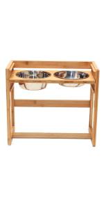 large adjustable elevated pet feeder, large raised dog bowls for large dogs
