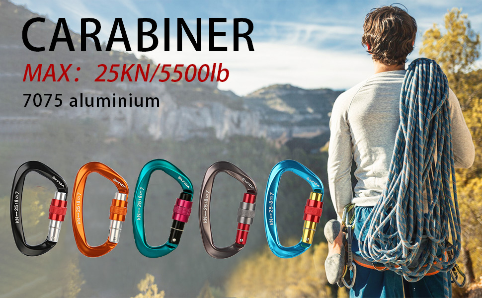 carabiner for outdoor activity, camping,hiking, traveling, keychain