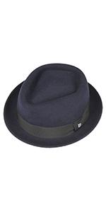 Lierys Classic Pork Pie hat blue porkpie felt hat