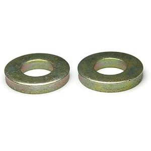 "50 Pack Zinc Yellow Finish Through Hardened Steel Flat Washer 5//16/"" x 7//8/"""
