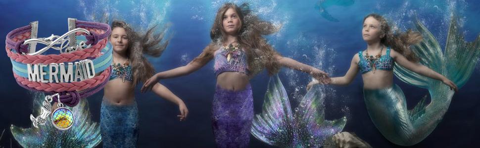 Aquamarine Mermaid Jewelry Beach Jewelry Mermaid Gifts for Girls
