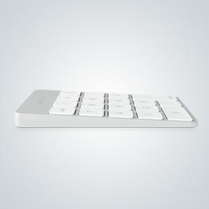 Satechi Keypad Delgado Portátil de Aluminio Bluetooth con 18-Teclas Extensión de Teclado para Entradas de Datos en Excel y Numbers (Plata)