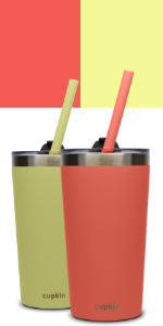 coral yellow Smoothie Cup Size