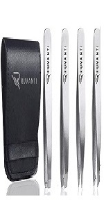silver tweezers pointed tweezers slanted point tip tweezers eyebrows tweezer women tweezer