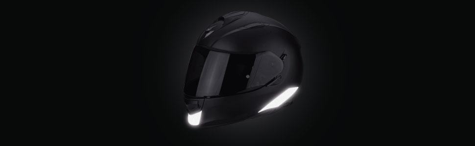 Vfluo Exo510air Kit 4 Reflektierende Aufkleber Scorpion Exo510air Kompatibel Mit Allen Motorradhelmen 3m Technology Schwarz Auto