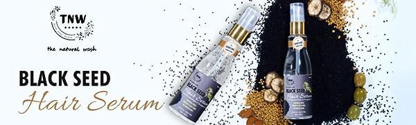TNW – The Natural Wash Black Seed Hair Serum an Anti-Frizz Natural Styling Serum (Paraben-Free)