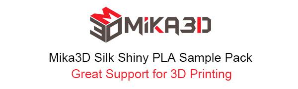 mika3d shiny silk pla sample pack 3d printing
