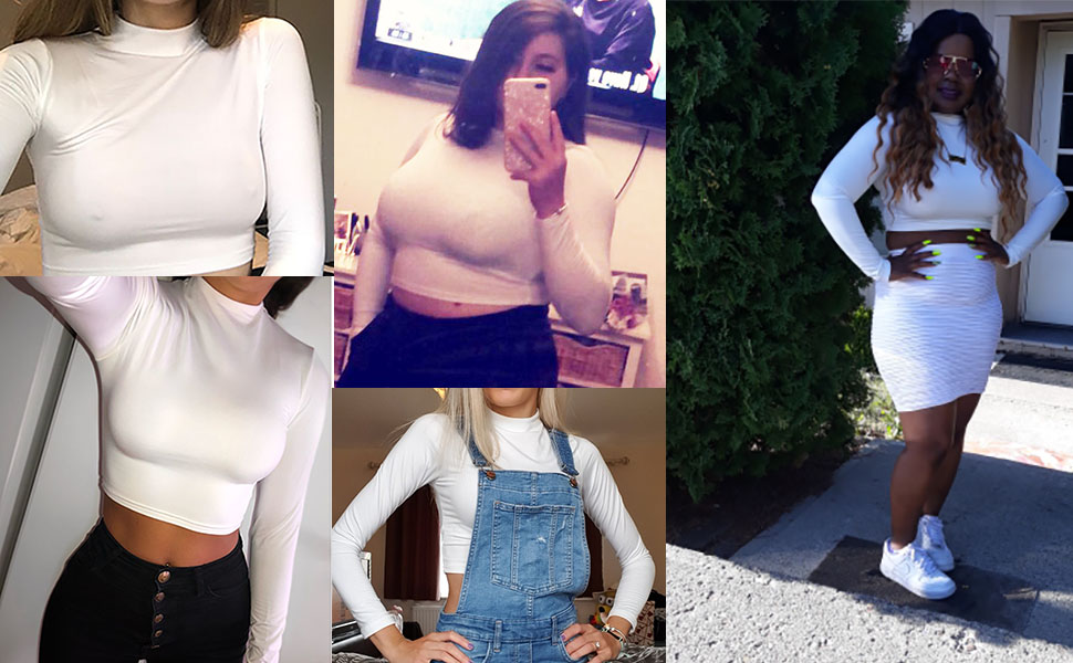 casual and sexy crop tops fits most figure