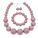 dust pink pearl choker necklace