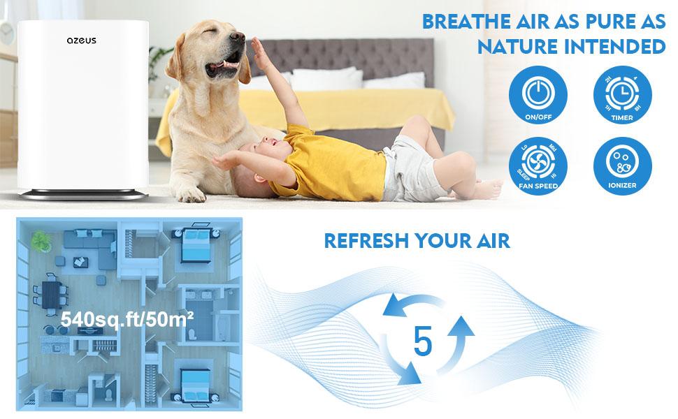 540 sq.ft air purifiers