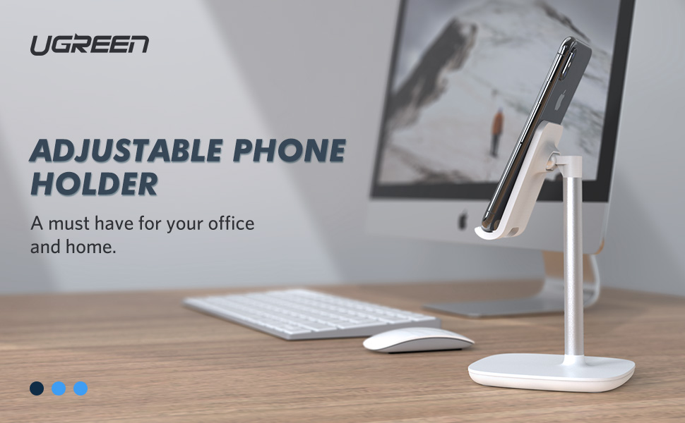 UGREEN Cell Phone Stand Desk Holder Compatible for iPhone 11 Pro Max XS XR 8P 7 6 5