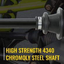 sixity xta axles feature high strength 4340 chromoly steel shafts