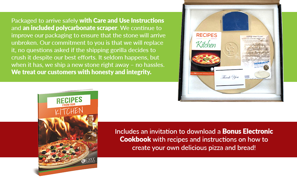 thermarite shields the pizza from the intense heat of the grill certified safe us fda european union