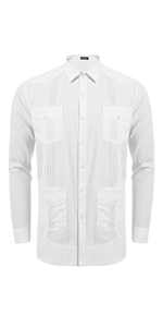mens guayabera shirt cuban shirt