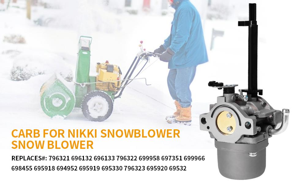 Trustsheer 591378 697978 Carburetor for BS 796321 696132 696133 796322 697351 699958 699966 698455 695918 694952 695919 695920 695328 Nikki Carb Snowblower Snow Blower Parts