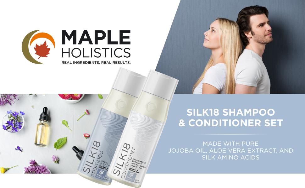 Silk18 Shampoo and Conditioner