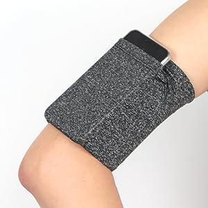 grey armband for phone running walking