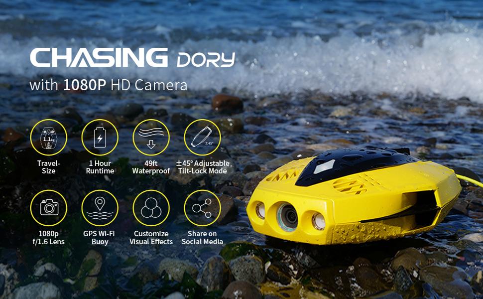 chasing underwater drone