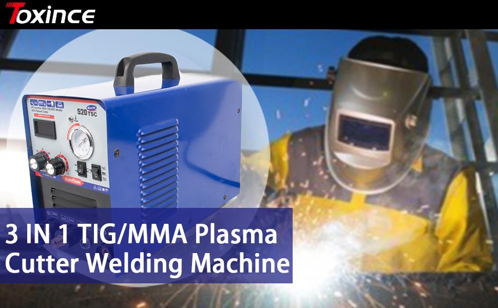 3 in 1 comboplasma cutter mma stick welding machine