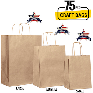Assorted Size Gift Bags Paper Gift Bags Kraft Paper Bags Brown Bags Craft Bags Retails Bags