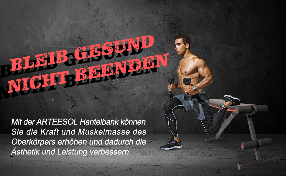Hantelbank Trainingsbank Fitnessbank