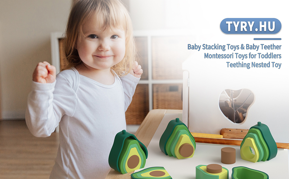 Silicone baby stacking toy