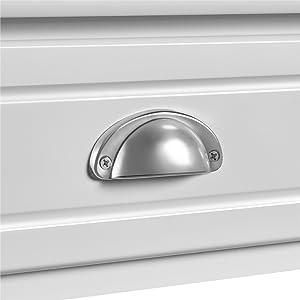 Semilunar metal handle