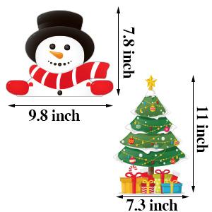 SUITABLE CHRISTMAS WINDOW DECORATIONS