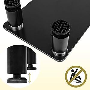 non-slip, non, slip, feet, foot, pads, rubber, secure, table, desk, shelf, platform, plinth, stand