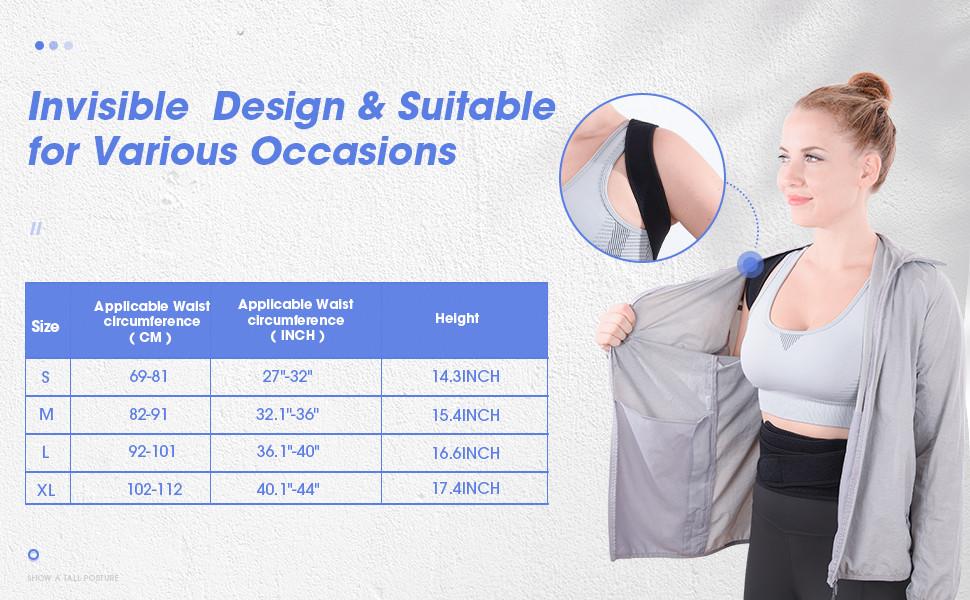 posture corrector size