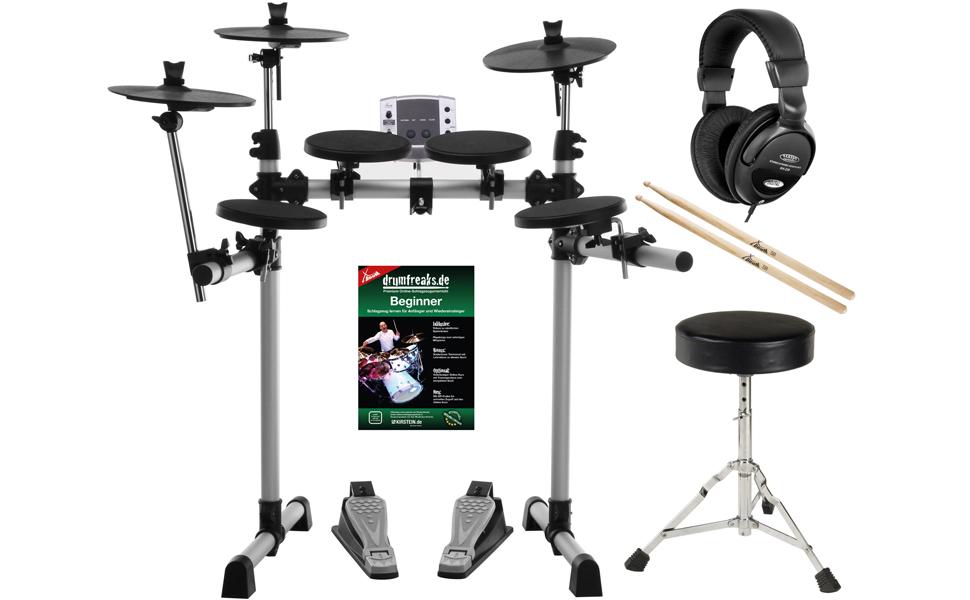 Klasse E-Drum-Set Komplettset Authentisches Spielgefühl und besondere Features