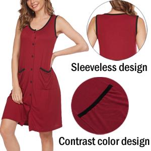 sleeveless nightgowns