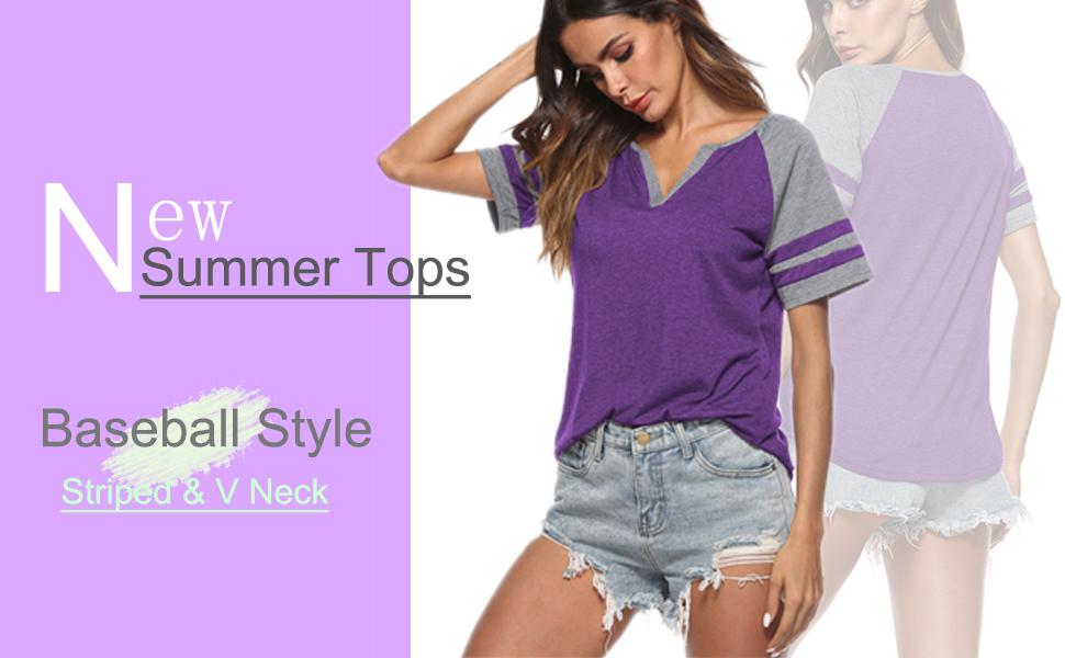 v neck tops for women