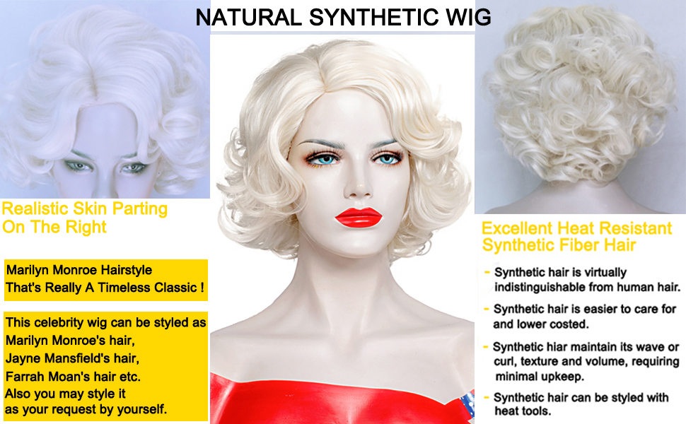 Short Blonde Curly Wig