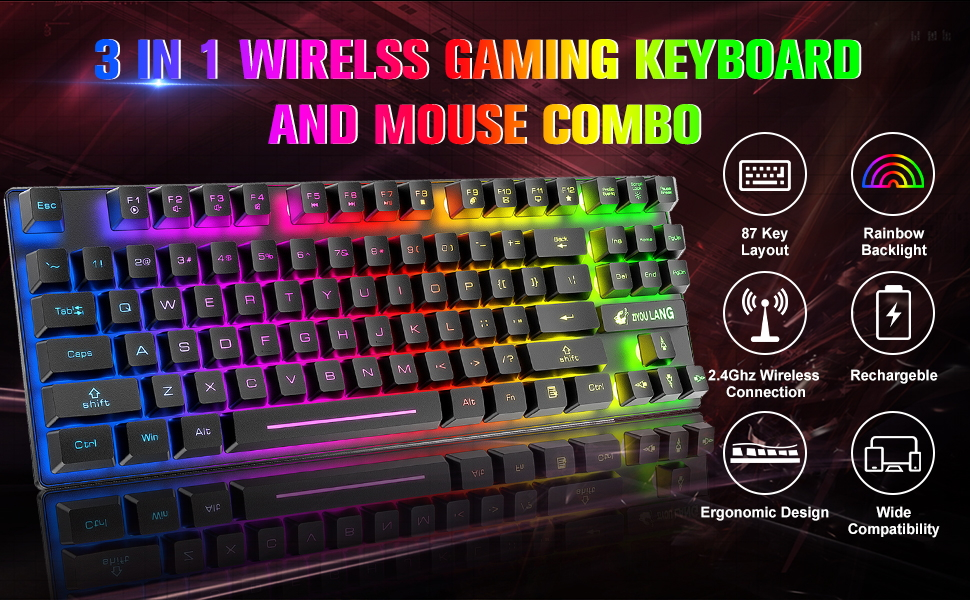wireless gaming keyboard and mouse