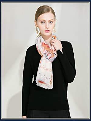 GERINLY pink feather scarf