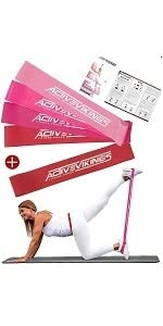 ActiveVikings® Bandas de fitness de tela – perfectas para el ...