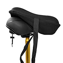 No tools needed, easy to install, wide exercise bike seat cover, gel bycicle seat cover