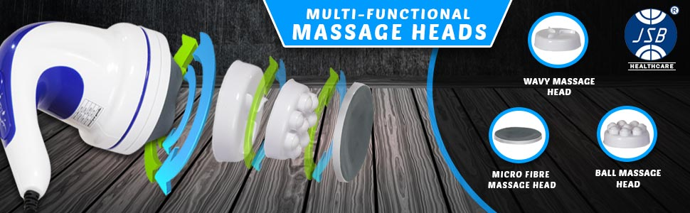 body massager with changeable attachments