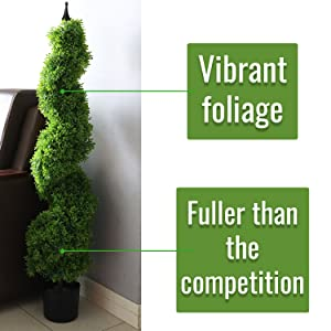 Artificial Topiary Spiral, Fake Plastic Trees, Faux Potted Plant