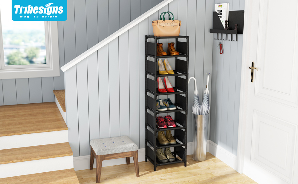 Corner shoe rack